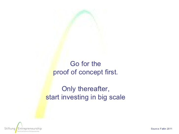 Go for the  proof of concept first.      Only thereafter,start investing in big scale                               Source...