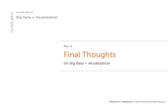 PROPRIETARY + CONFIDENTIAL © 2012-16 Familian&1, All Rights Reserved an overview of Big Data + Visualization Part 5 Final...