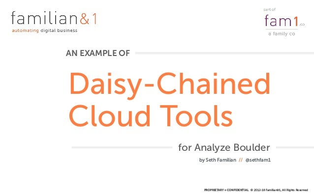 PROPRIETARY + CONFIDENTIAL © 2012-18 Familian&1, All Rights Reserved Daisy-Chained Cloud Tools AN EXAMPLE OF by Seth Famil...