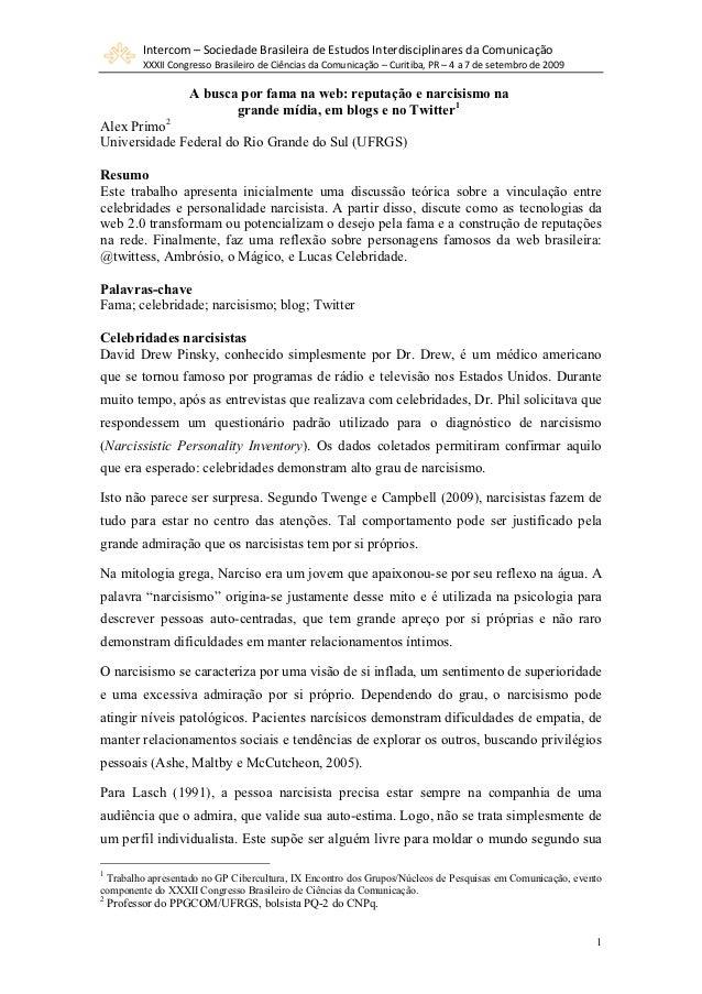 Intercom–SociedadeBrasileiradeEstudosInterdisciplinaresdaComunicação          XXXIICongressoBrasileirodeCiênc...