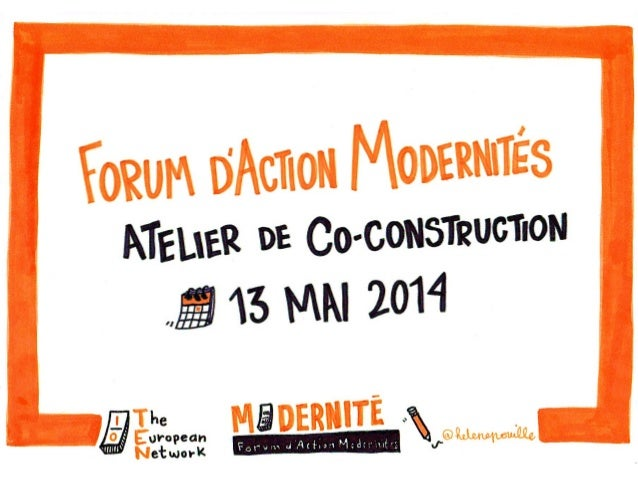 Forum d'Action Modernités - Atelier de co-construction