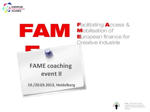 FAM                             Facilitating Access &                             Mobilisation of                         ...