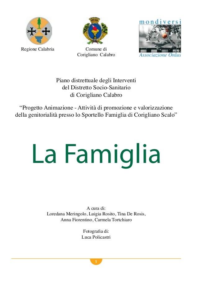 1 Regione Calabria Comune di Corigliano Calabro Piano distrettuale degli Interventi del Distretto Socio-Sanitario di Corig...