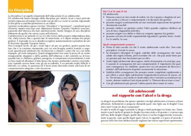 26 27 La Disciplina La disciplina è un aspetto importante dell'educazione di un adolescente. Gli adolescenti hanno bisogno...