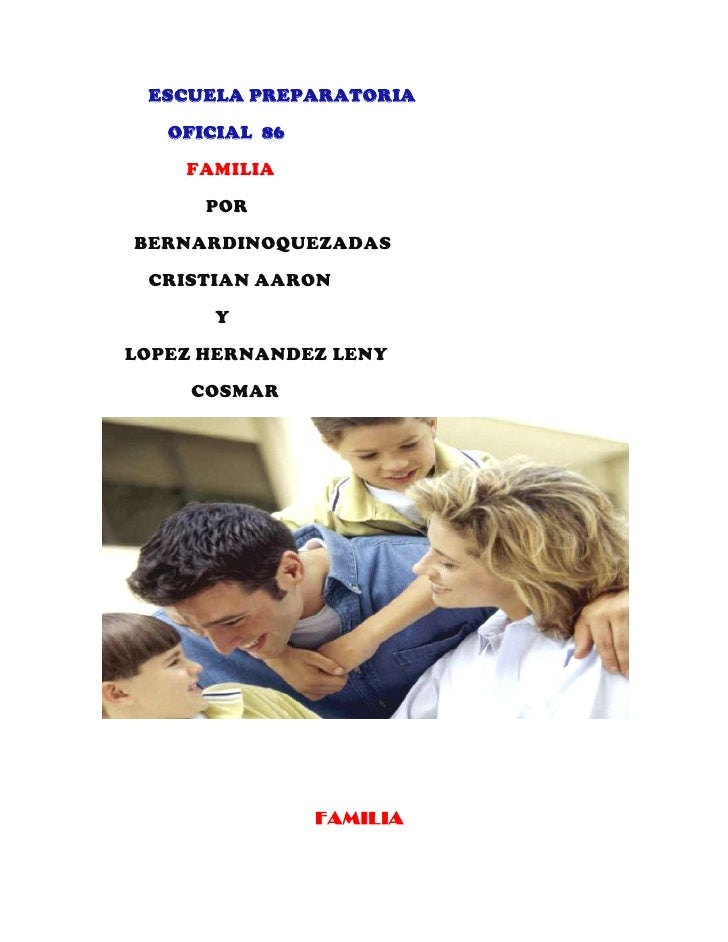 ESCUELA PREPARATORIA                    <br />              OFICIAL  86    <br />                  FAMILIA      ...