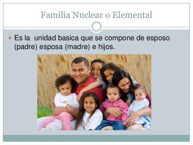 Familia Tipos de familia nuclear