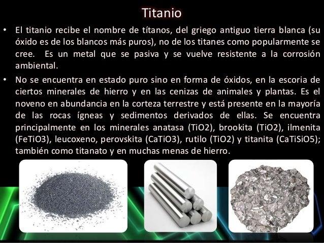 Familia del titanio for De donde se obtiene el marmol