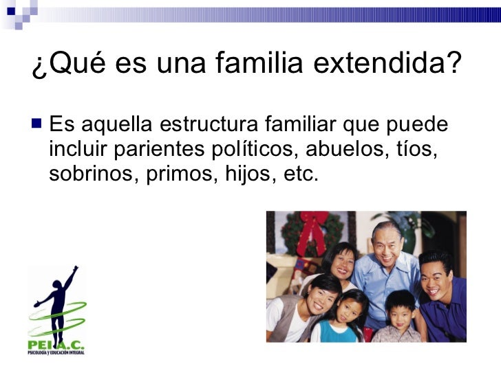 Familia extendida for Concepto de la familia para ninos