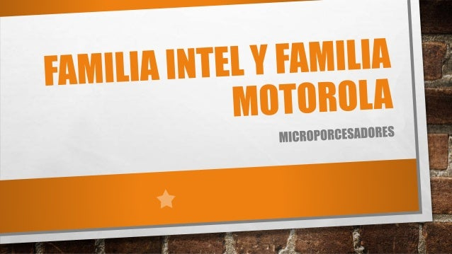 FAMILIA INTEL