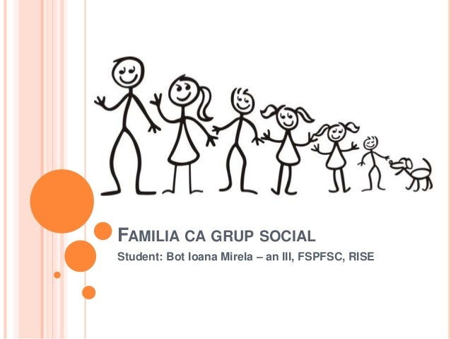 Rolul familiei in societate