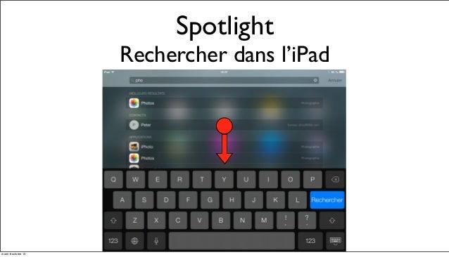 Rencontre avec ipad