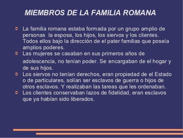 Matrimonio Romano Tipos : La familia romana