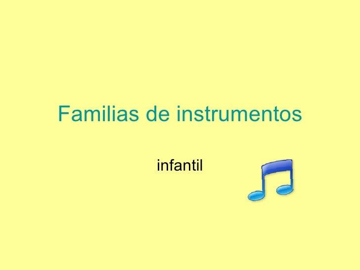 Familias de instrumentos infantil