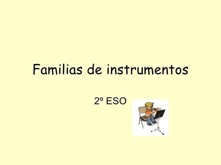 Familias de instrumentos 2º ESO