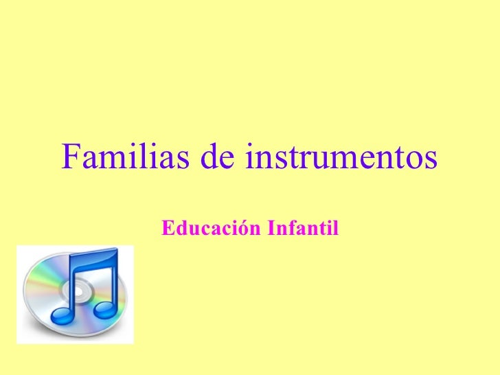 Familias de instrumentos Educación Infantil