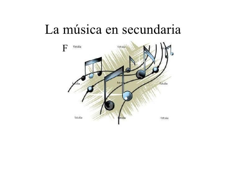 La música en secundaria Familias de instrumentos 2º de E.S.O