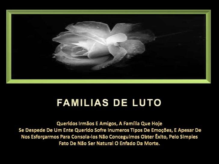 Familias de luto