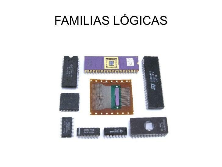 FAMILIAS LÓGICAS