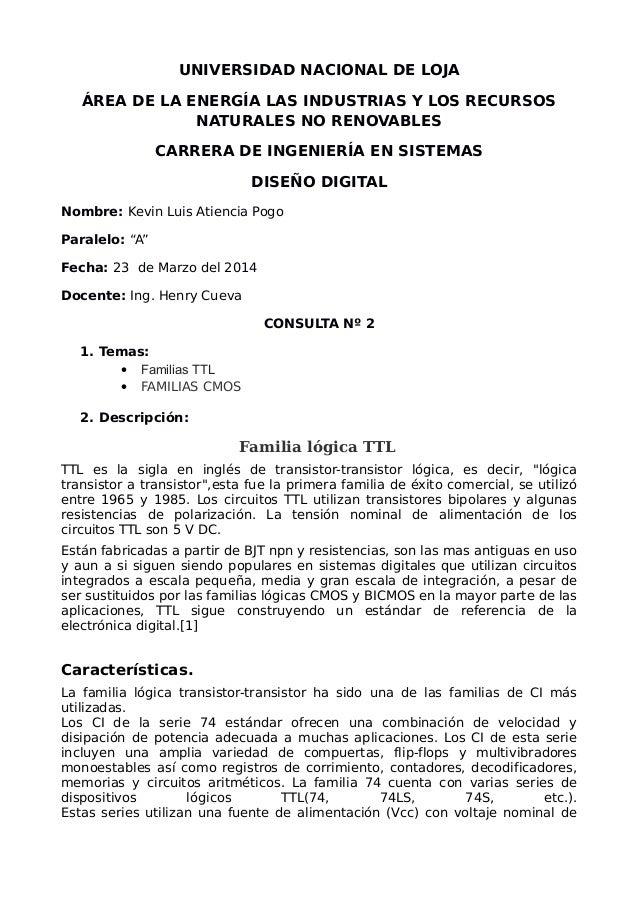 UNIVERSIDAD NACIONAL DE LOJA ÁREA DE LA ENERGÍA LAS INDUSTRIAS Y LOS RECURSOS NATURALES NO RENOVABLES CARRERA DE INGENIERÍ...