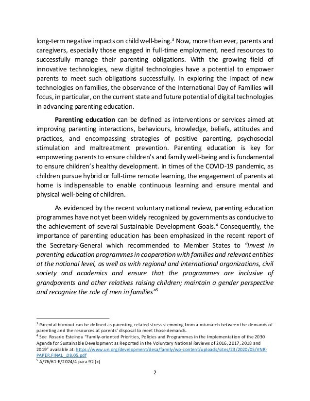 2 long-term negative impacts on child well-being.3 Now, more than ever, parents and caregivers, especially those engaged i...