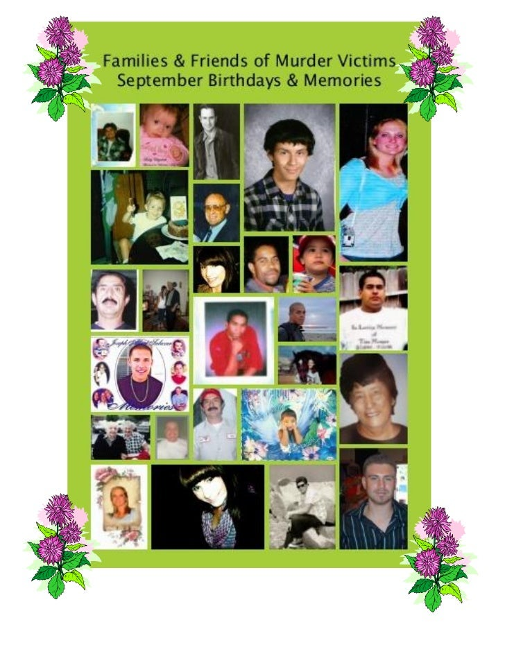 FAMILIES & FRIENDS OF   MURDER VICTIMS, Inc.                                       Families & Friends of Murder Victims:  ...