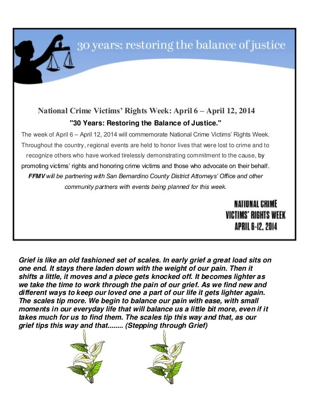 Families Amp Friends Of Murder Victims April 2014 Newsletter