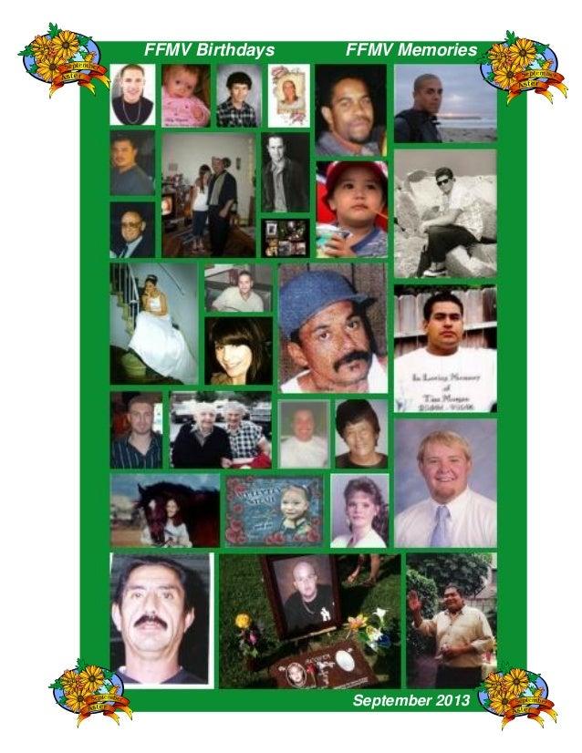 FFMV Birthdays FFMV Memories September 2013