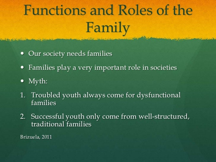 the role of children in family Values, coping skills, and consistency are just a few traits learned from families find out what other roles the family plays in child development.