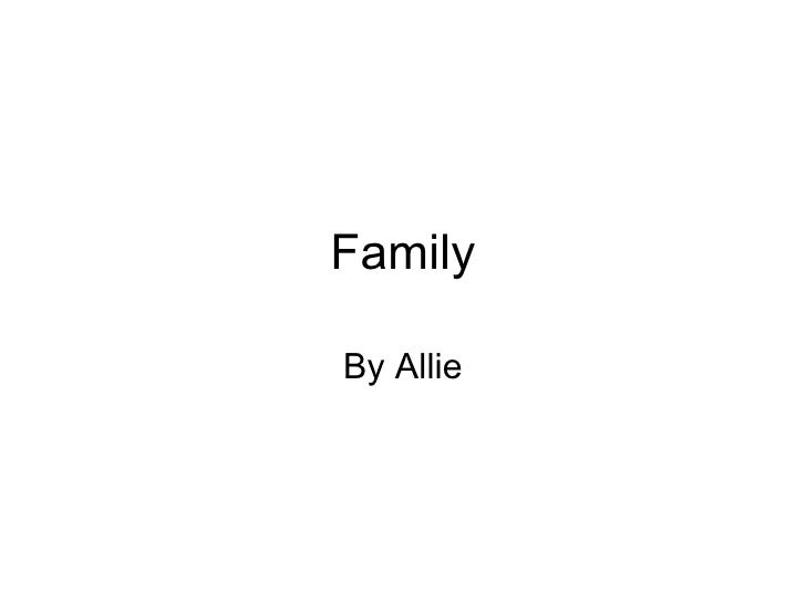 Family By Allie