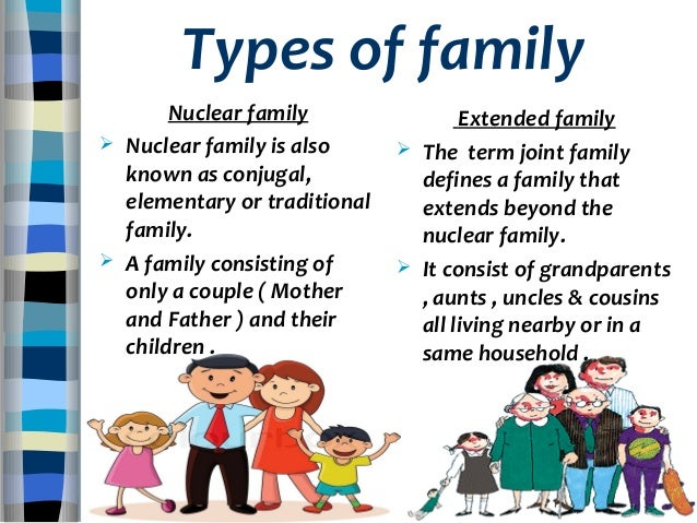 nuclear vs extended family Just as something vital is lost when the unified extended family is fragmented into many smaller disparate nuclear families, the single parent family also suffers a great loss—the absence of both one parent and the larger world of family relations.