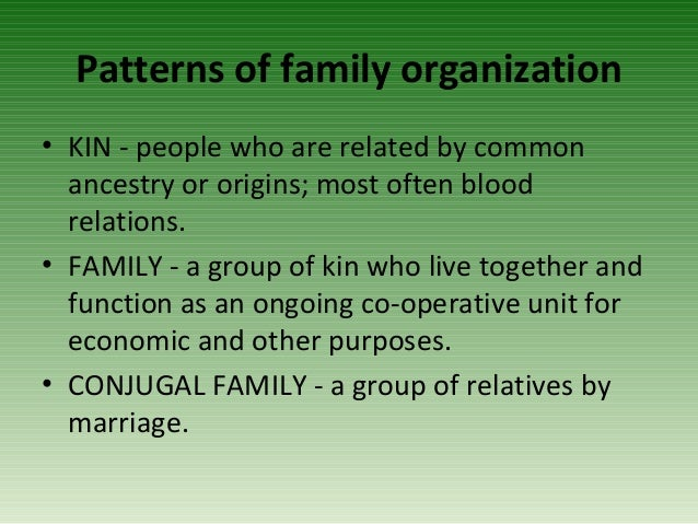 Family Relations for Management Scienes