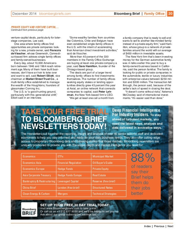 Bloomberg Brief Family Office Special