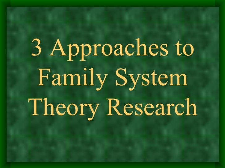 family system theory research papers