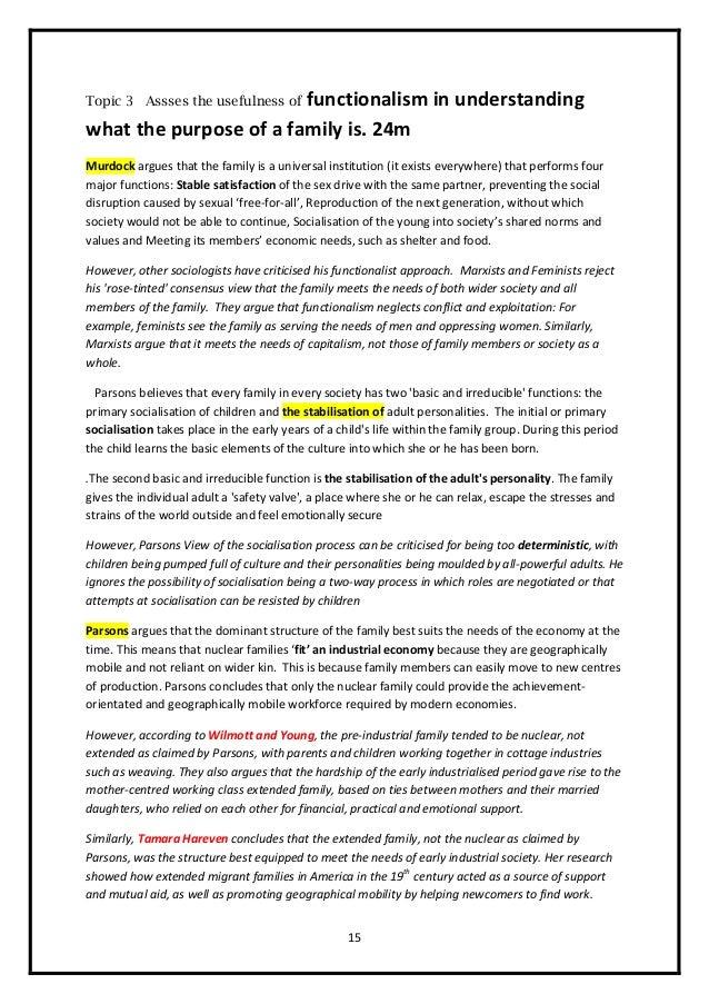 family essay sample
