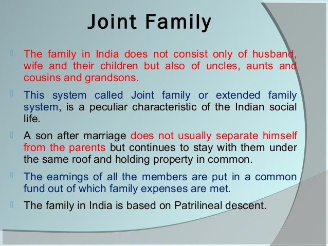 Is the Joint family system in India disintegrating? - Essay