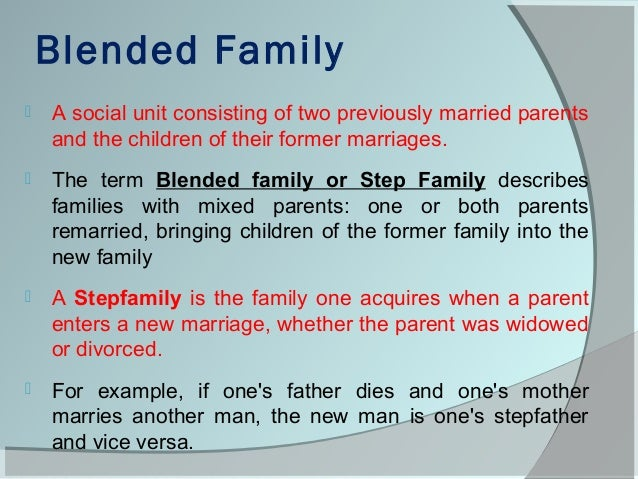 blended family sociology