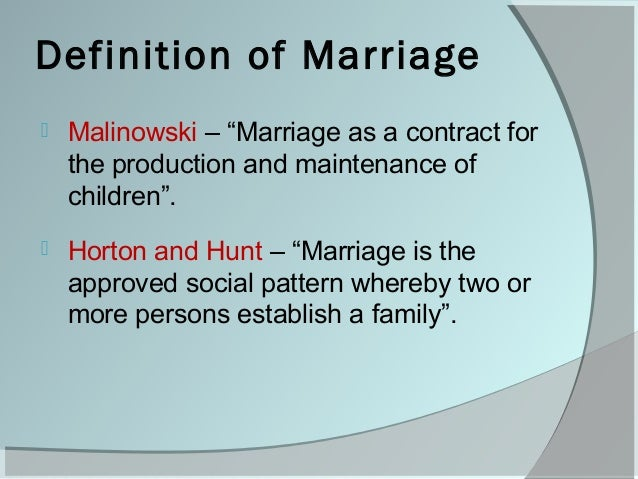 Family And Marriage