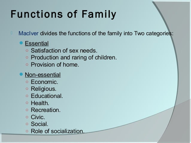 two functions of the family