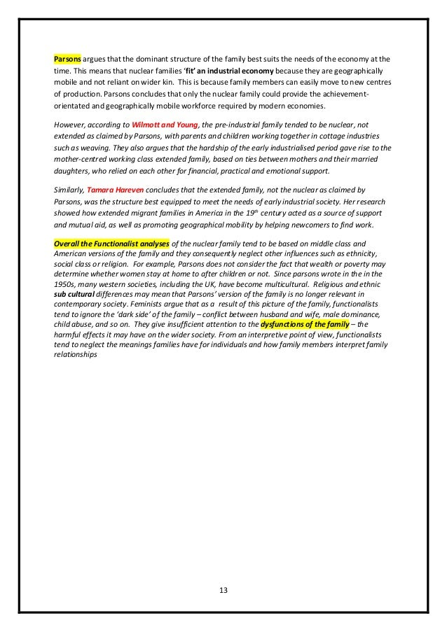 family as model essays revision booklet  13