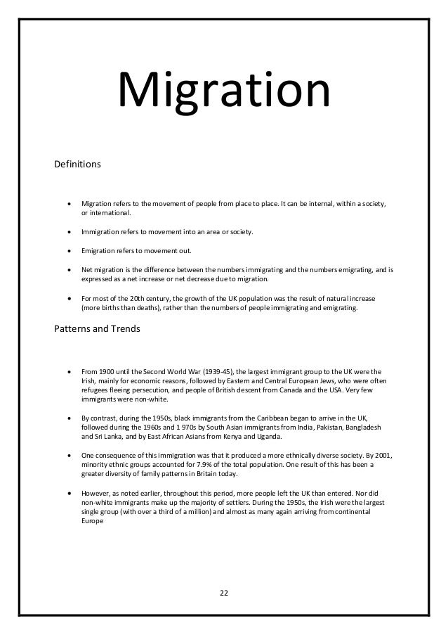 immigration essays