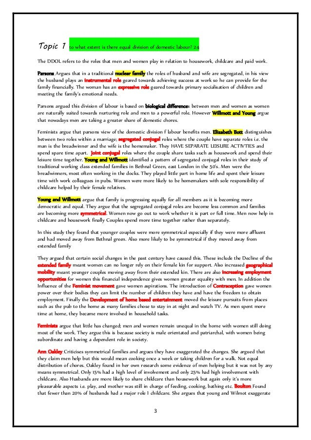 family as model essays revision booklet  3