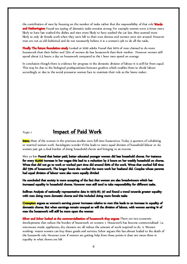 role in family essay