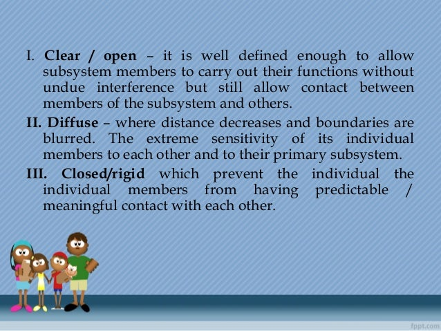 I. Clear / open – it is well defined enough to allow subsystem members to carry out their functions without undue interfer...