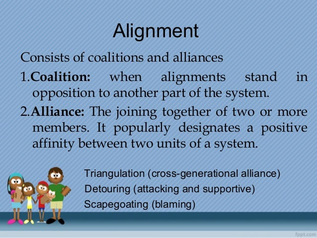 Alignment Consists of coalitions and alliances 1.Coalition: when alignments stand in opposition to another part of the sys...