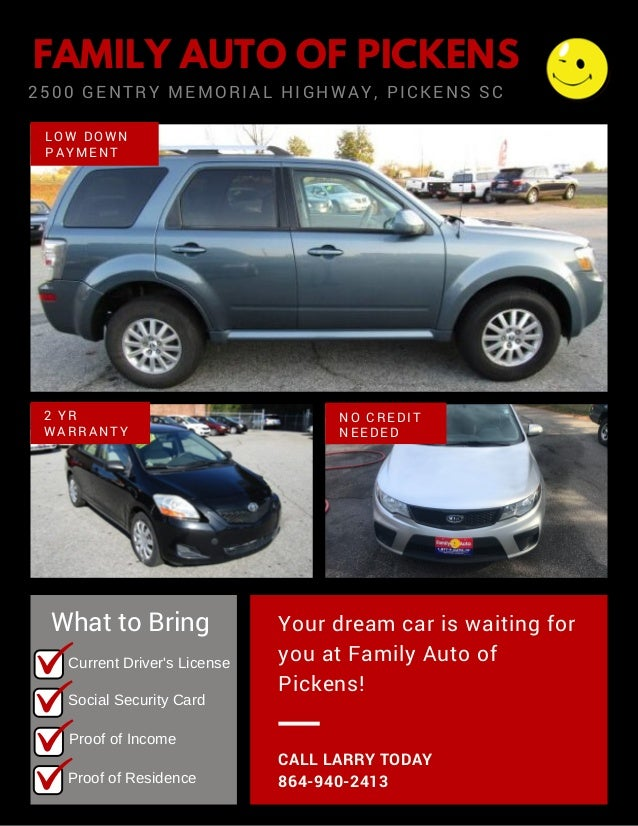 Buy Here Pay Here Car Lots Near Me >> Buy Here Pay Here Near Me Used Cars Pickens Sc Family Auto Fami