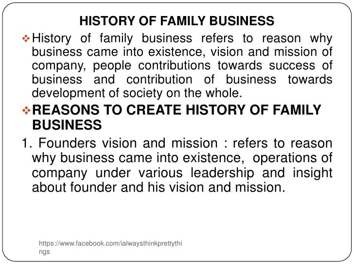 family business resumes