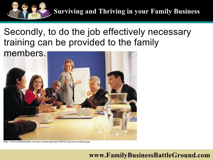 family business management Purpose: to enable students to gain insight into the family of today, interfacement of family business with family life, types of family businesses, family roles and relationships, special features of family business management, the process of leadership succession, transfer of ownership.