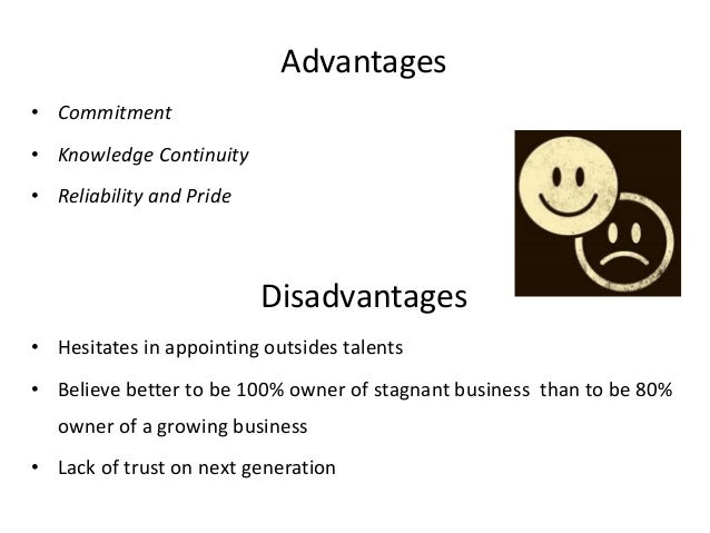 advantages of family business