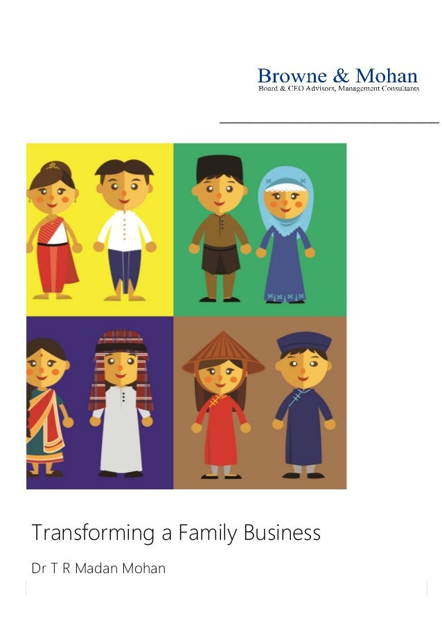 ______________________________________________________ Transforming a Family Business Dr T R Madan Mohan