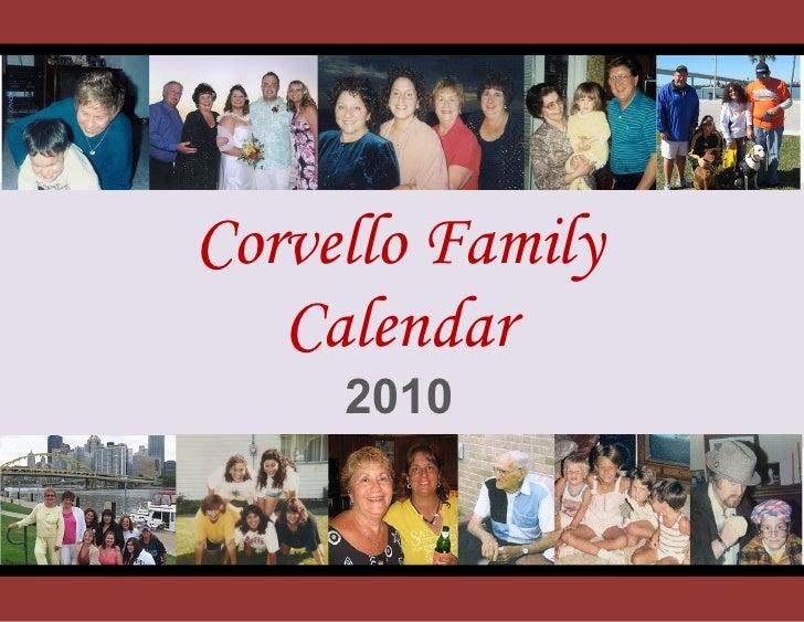 e         Corvello Family        Calendar          2010